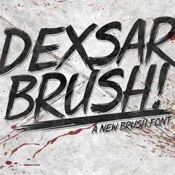 دانلود فونت قلم مو Dexsar