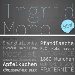 8 فونت انگلیسی Ingrid Mono