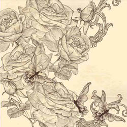 دانلود وکتور - با موضوع پس زمینه گل