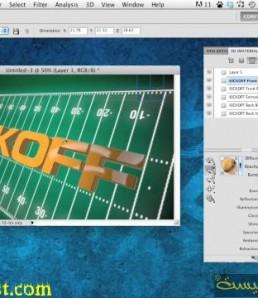 آموزش ساخت نوشته سه بعدی در فتوشاپ