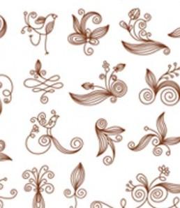 ۲۵ وکتور با موضوع عناصر طراحی خوشنویسی