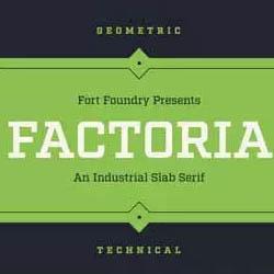 دانلود فونت انگلیسی Factoria
