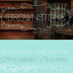 دانلود 3 فونت انگلیسی Brownstone Sans