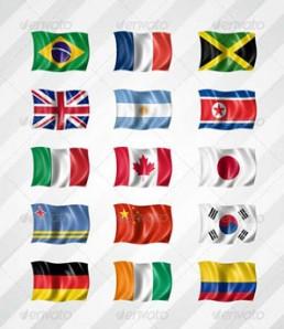 دانلود فایل لایه باز 210 پرچم زیبا