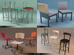 دانلود سوپر مدل های سه بعدی صندلی 3D