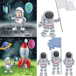 دانلود مجموعه وکتور فضانوردی