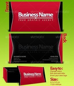 دانلود کارت ویزیت سرخ و سیاه زیبا