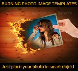 دانلود فایل لایه باز عکس سوخته در دست