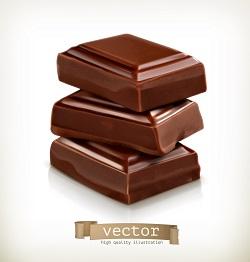دانلود مجموعه وکتور دسر شکلاتی