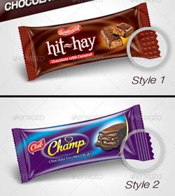 دانلود فایل لایه باز بسته بندی شکلات تخته ای
