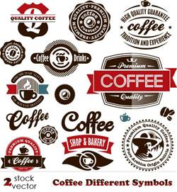 دانلود وکتور سمبل های مختلف قهوه