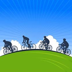 دانلود وکتور دوچرخه سواری