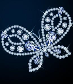 دانلود وکتور الماس و پروانه