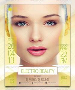 دانلود وکتور پوستر جهت سالن زیبایی خانم ها