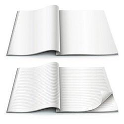دانلود مجموعه زیبای وکتور دفترچه خالی