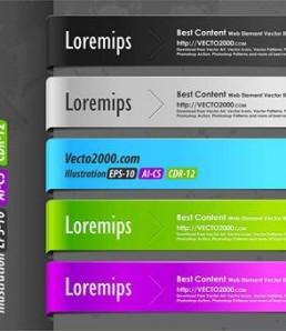 دانلود عناصر زیبای طراحی وب رایگان
