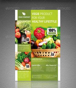 دانلود فایل لایه باز پوستر میوه جات و سبزیجات