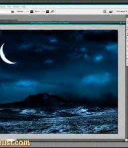 ساخت افکت رویایی مهتاب در فتوشاپ