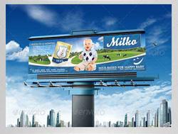 دانلود فایل لایه باز بیلبورد تبلیغاتی صنایع شیرخشک