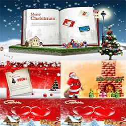 دانلود فایل لایه باز الگوی کریسمس