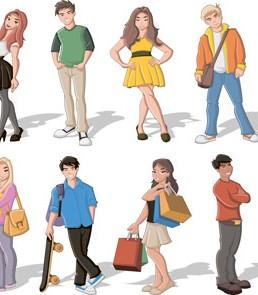 دانلود مجموعه وکتور کارتونی مردم