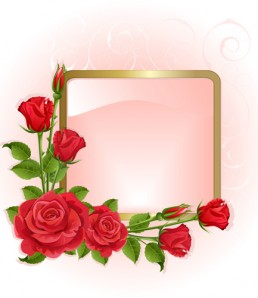 دانلود وکتور قاب عکس گل قرمز