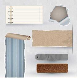 دانلود وکتور اشیا کاغذی پاره