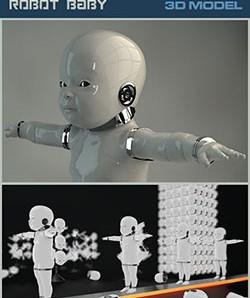 دانلود مدل سه بعدی ربات کودک
