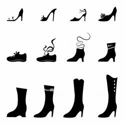 دانلود وکتور کفش زنانه