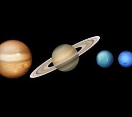 دانلود مجموعه وکتور سیارات منظومه شمسی
