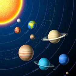 دانلود مجموعه وکتور منظومه شمسی