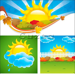 دانلود وکتور بکگراند آفتاب تابستان