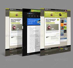 دانلود فایل لایه باز پک قالب وب سایت