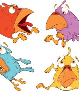 دانلود وکتور حیوانات خنده دار کارتونی شماره دو