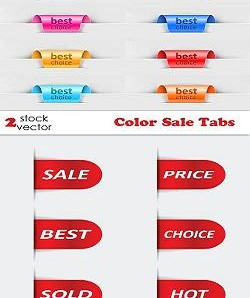 دانلود وکتورهای زیبای Vectors - Color Sale Tabs