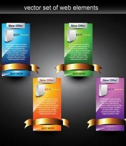 دانلود عناصر طراحی وب برای آگهی تبلیغاتی