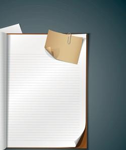 دانلود وکتور و بنر کاغذ سفید کتاب و مقاله