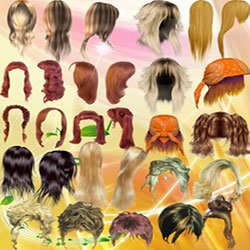 دانلود فایل لایه باز انواع مدل موهای زیبا