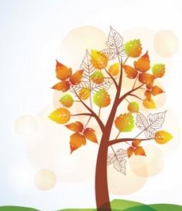 دانلود وکتور درخت پاییزی