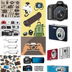 دانلود مجموعه وکتور دوربین عکاسی