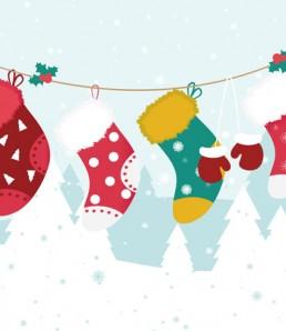 دانلود بک گراند جوراب کریسمس