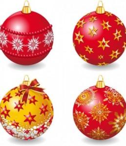 دانلود وکتور توپ کریسمس
