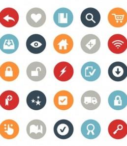 دانلود وکتور تجارت الکترونیک و آیکون خرید آنلاین