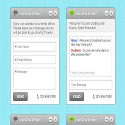 دانلود فایل لایه باز چت آنلاین برای سایت