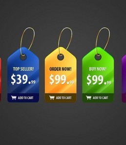 دانلود پی اس دی برچسب قیمت زیبا