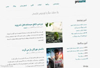 دانلود قالب فارسی Prosume برای وردپرس