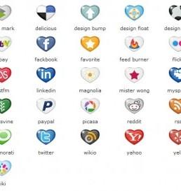 دانلود مجموعه آیکون های رسانه های اجتماعی