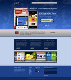 دانلود تمپلیت پی اس دی لایه باز سایت زیبا