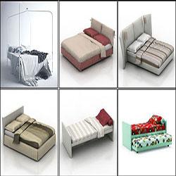 دانلود مجموعه مدل های سه بعدی تخت خواب