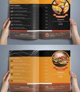دانلود فایل لایه باز منوی رستوران 8 صفحه ای
